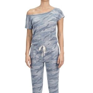 CAMO JUMPSUIT BLUE